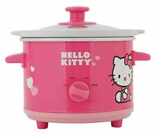 Hello Kitty Pink 1.5 Quart Ceramic Slow Cooker APP-41209 Dishwasher Safe NIB