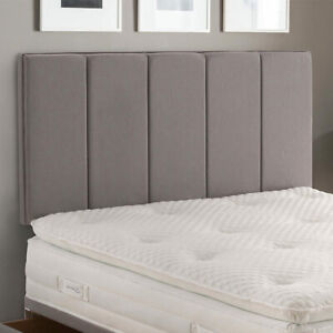 Luxury Linen Fabric Modern Vertical Panel Upholstered Bed Headboard ALL SIZES