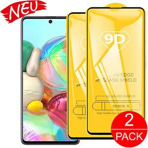 2x Panzerfolie für Samsung Galaxy A51 A71 Full Cover aus Echt Glas Schutzfolie