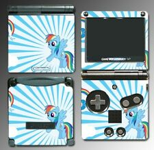 My Little Pony MLP Rainbow Dash Hearts Game Decal Skin Game Boy Advance GBA SP