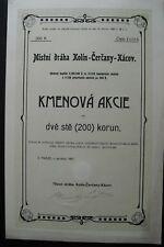 Lokalbahn Kolin-Cercany-Kacov ( Mistni dráha Kolin-Cercany-Kácov ) Prag 1907