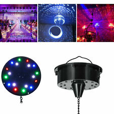 "6RPM RGB Light Rotating Motor 18 LED For Mirror Disco Ball 6"" 8"" 12"" DJ Party"