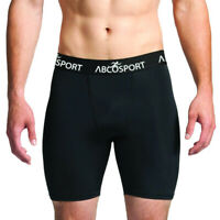 Men's Black Athletic Compression Shorts Sports Workout Gym Cycling Running Yoga