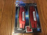 G.Skill RipsjawsV DDR4 Ram Red 16gb pc4-19200 2400 CL 15-15-35 - NEW
