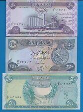 Iraq P-90 P-91 P-92 50, 250, 500 Dinars Uncirculated Banknotes Set #3
