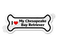 I Love My Chesapeake Bay Retriever Dog Bone Bumper Sticker Decal Db 177