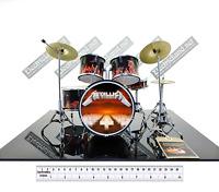 Mini Drum set METALLICA master puppets album scale 1:4 miniature collectible kit