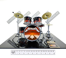 Mini Drum set METALLICA master puppets album scale 1:4 miniature collectible kit
