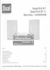 Dual Service Manual für KA 61L
