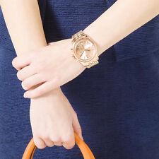 New Michael Kors Women 38mm Lexington Rose Gold Tone Chronograph Watch MK5569