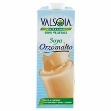 Valsoia Bevanda 100% Latte Vegetale Soyadrink Orzo Malto - Confezione da 1 Litro