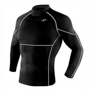 Take Five Mens Skin Tight Compression Layer Running Shirt S~2XL Black 005