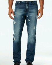 Calvin Klein Mens Slim Straight Leg Authentic Blue Wash Jeans W36 32L NWT