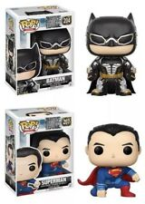 *2!* Funko POP! BATMAN 204 & SUPERMAN 207 DC Justice League Vinyl Figures Set