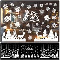 Christmas Window Stickers Elk Santa Claus Wall Decal Xmas Home Decoration