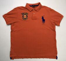 Polo Ralph Lauren Marine Supply Men's Polo Adult Shirt XL Orange Big Pony Blue