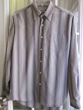 Lucky Brand Striped Button Down Long Sleeve Dress Shirt Men's M