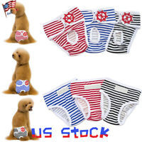 Sanitary Underwear Cute Physiological Panties Dog Pants Female Diapers Puppy US