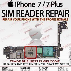 iPhone 7 7  Plus + SIM READER SLOT REPLACEMENT REPAIR SERVICE