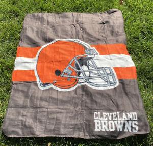 NWT NEW NFL CLEVELAND BROWNS SOFT TAILGATE FLEECE THROW BLANKET 40x50 DOG POUND