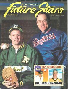 Beckett Future Stars Magazine May 1991 #1 Nolan Ryan Todd Van Poppel Oakland As