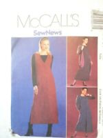 Vintage 2000 Sewing Pattern Dress or Top and Jumper Size 8-10-12