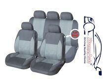 9 PCE Full Set of Grey Woven Fabric Seat Covers for Seat Ibiza Leon Toledo Altea