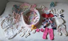 Baby Born Set Zubehör Konvolut Bett Trage Kleidung Hose Kleider Tragenest Spiel