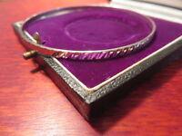 Toller 835 Silber Armreif Modern Design Muster Rillen Retro Zierlich Top