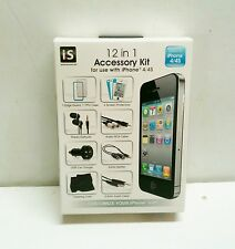 12 in 1 Accessory Kit for iPhone 4 / 4s Brand New Sealed Audio Cable/Splitter ++