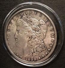 1898 Silver Morgan Dollar - U.S. Coin - Philadelphia Mint - in plastic capsule