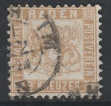 Germany (Baden) - 1862/5, 9k Pale Brown stamp - G/U - SG 33