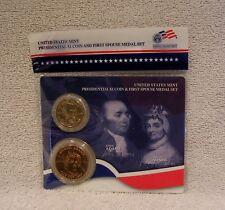 John Adams  - Presidential $1 Dollar Coin & First Spouse Medal Set - XO1 Sealed