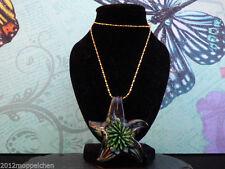 Markenlose Modeschmuck-Halsketten & -Anhänger aus Glas und Gelbgold für Damen
