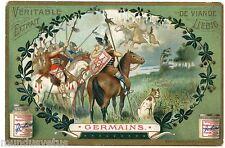 CHROMO. LIEBIG. CAVALIERS DE L'ANTIQUITé. CAVALERY. GERMAINS . S 763 . 1904
