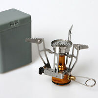 Portable Ultralight Outdoor Picnic Gas Burner Foldable Camping Steel Stove Case