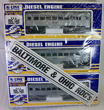K-Line K-26001, 26002, 26003 Budd Rdc 3 Car Set w 2 Motors Mint/Obs/Shrink Wrap!