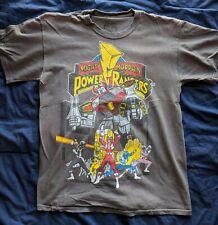 Mighty Morphin' Power Rangers T shirt Adult Medium Flat Gray 2010 Megazord