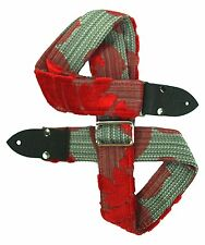 Dog Days Vintage Guitar Straps rdgr1 Red and Grey Ukulele/Mandolin Strap, Red
