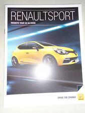 Renault Sport range brochure Jan 2014 Clio 200 Turbo, Megane 265