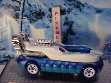 2018 JUNGLE RALLY Design HOVER STORM☆white pearl; blue; chrome☆LOOSE Hot Wheels☆