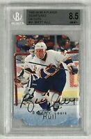 1995-96 BE A PLAYER SIGNATURES DIE CUTS S1 BRETT HULL AUTOGRAPH BECKETT 8.5 BGS