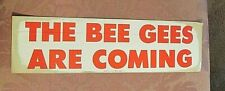 BEE GEES - The Bee Gees Are Coming - BUMPER STICKER - Vintage - PROMO - Fair
