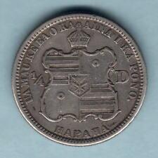 USA - Hawaii.  1883 Quarter Dollar..  Trace Lustre..  aVF/VF