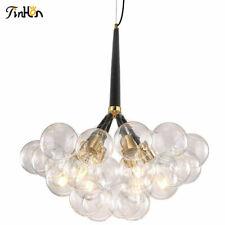 16 Bubble Modern Chandelier Sputnik Clear Glass 6-lights Globe Ceiling Lamp
