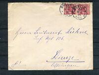Reichspost 10 Pfg. MeF Berlin-Dieuze - b2090