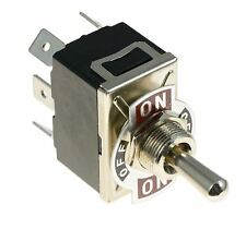 On-Off-On Standard Toggle Switch DPDT 15A 250VAC
