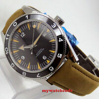 41mm CORGUET black sterile dial ceramic sapphire glass Automatic mens Watch C1