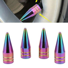 4Pcs Universal Neo Chrome Spiked Tire Air Valve Stem Caps For Car SUV Truck Bike
