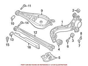For BMW Genuine Suspension Control Arm Bolt Rear Lower 33171090824